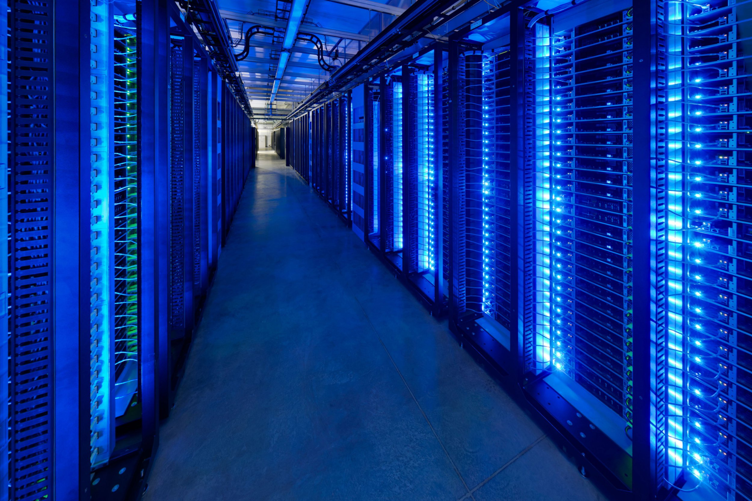 epa06616470 Undated handout image released by Facebook showing server racks at their data center in Prineville, Oregon, USA, 20 March 2018. A growing controversy in both the Great Britain and the US has raised questions about how Cambridge Analytica, a firm hired by US President Trump's 2016 election campaign, was able to gain access to private information on over more than 50 million Facebook users. EPA/FACEBOOK / HANDOUT HANDOUT EDITORIAL USE ONLY/NO SALES