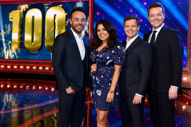 Editorial Use Only. No merchandising Mandatory Credit: Photo by ITV/REX/Shutterstock (9453204d) Anthony McPartlin and Declan Donnelly and Scarlett Moffatt and Stephen Mulhern. 'Ant & Dec's Saturday Night Takeaway' TV Show, Series 15, Episode 2 UK - 03 Mar 2018 Anthony McPartlin and Declan Donnelly's Saturday Night Takeaway, is a British ITV variety show, presented by Anthony McPartlin and Declan Donnelly, both of whom also act as the show's executive producers, and broadcast on ITV since its premiere in 2002.