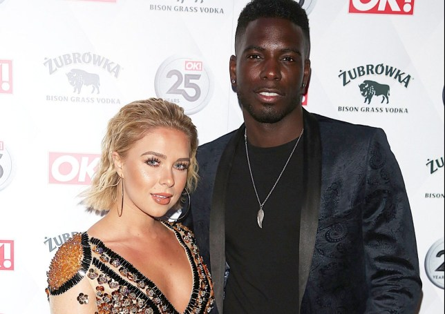 OK Magazine - 25th Anniversary Party, The View From The Shard, London UK, 21 March 2018, Photo by Brett D. Cove Pictured: Gabby Allen, Marcel Somerville Ref: SPL1674124 220318 Picture by: Brett D. Cove / Splash News Splash News and Pictures Los Angeles: 310-821-2666 New York: 212-619-2666 London: 870-934-2666 photodesk@splashnews.com