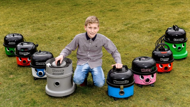 Boy, 13, makes his fortune with vacuum cleaners