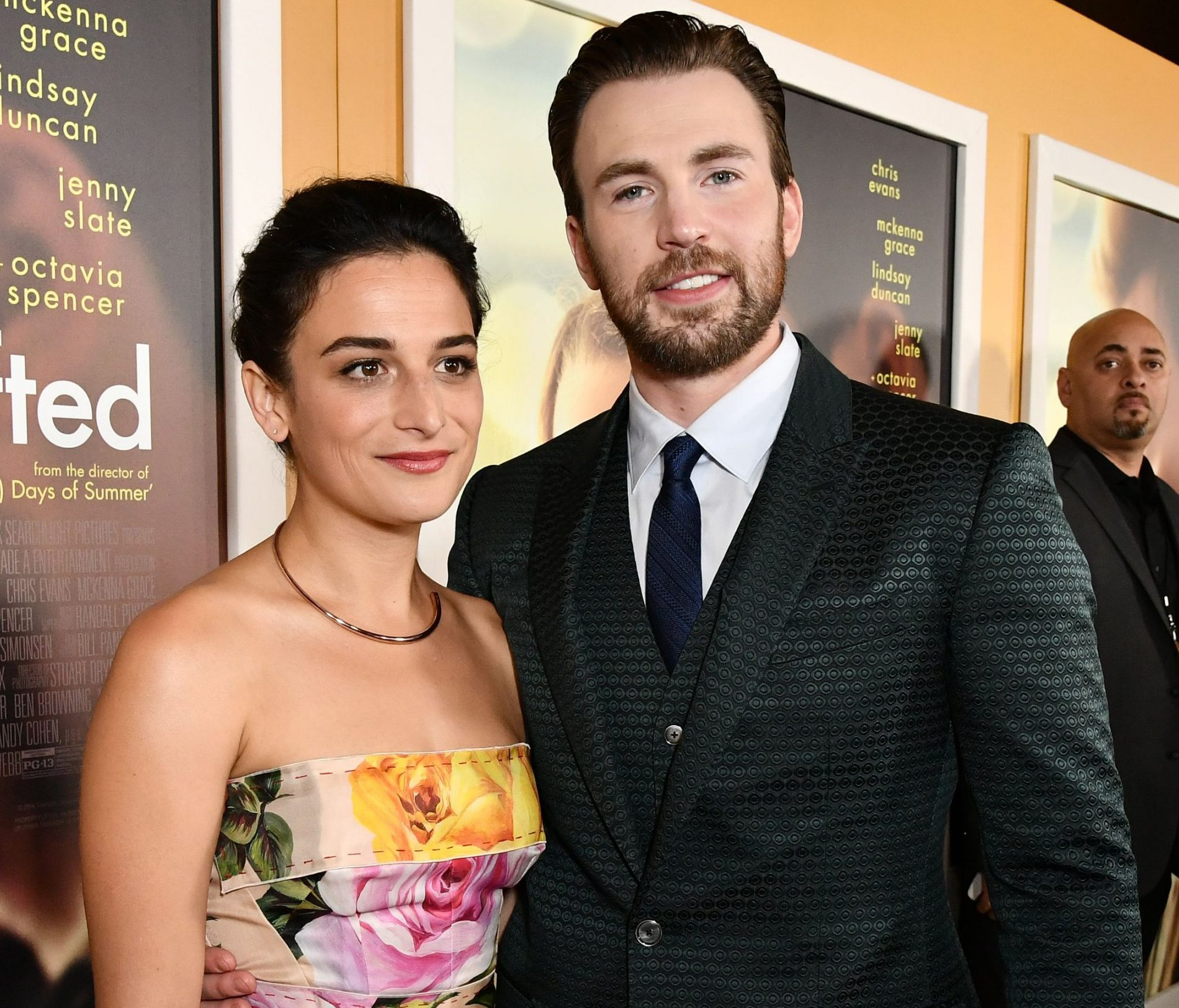 Mandatory Credit: Photo by Rob Latour/Variety/REX/Shutterstock (8564105cg) Jenny Slate and Chris Evans 'Gifted' film premiere, Arrivals, Los Angeles, USA - 04 Apr 2017