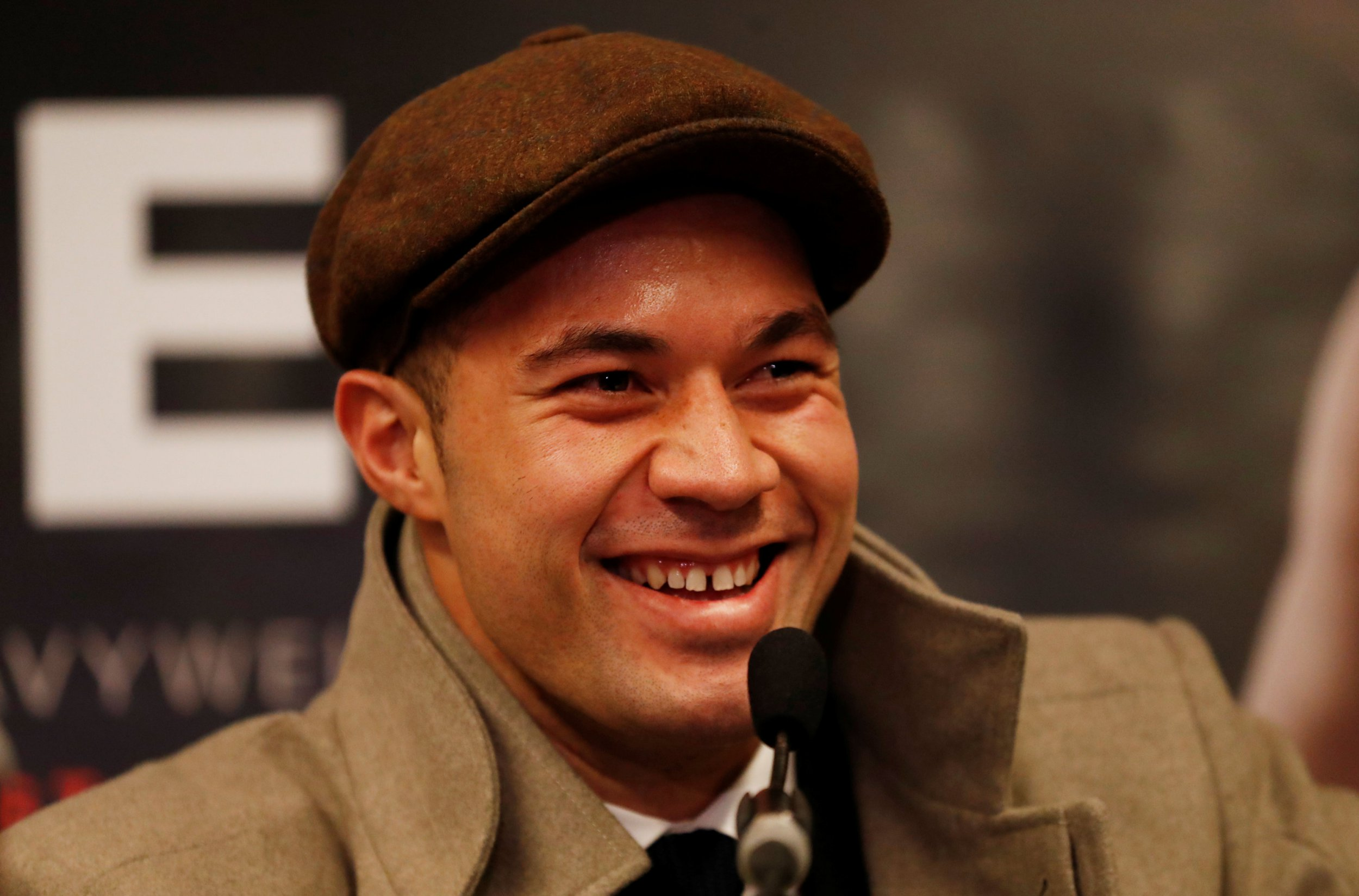 Boxing - Joseph Parker Media Session - London, Britain - March 23, 2018 Joseph Parker during the press conference Action Images via Reuters/Peter Cziborra
