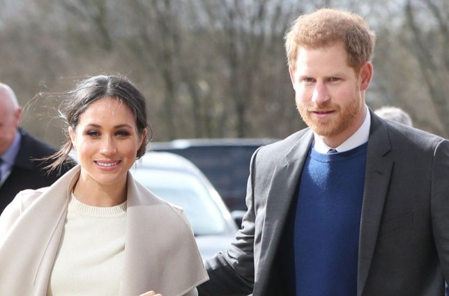 Prince Harry and Meghan Markle arrive for a visit to the Eikon Exhibition Centre in Lisburn where they attended an event to mark the second year of youth-led peace-building initiative Amazing the Space. PRESS ASSOCIATION Photo. Picture date: Friday March 23, 2018. See PA story ROYAL Harry. Photo credit should read: Niall Carson/PA Wire