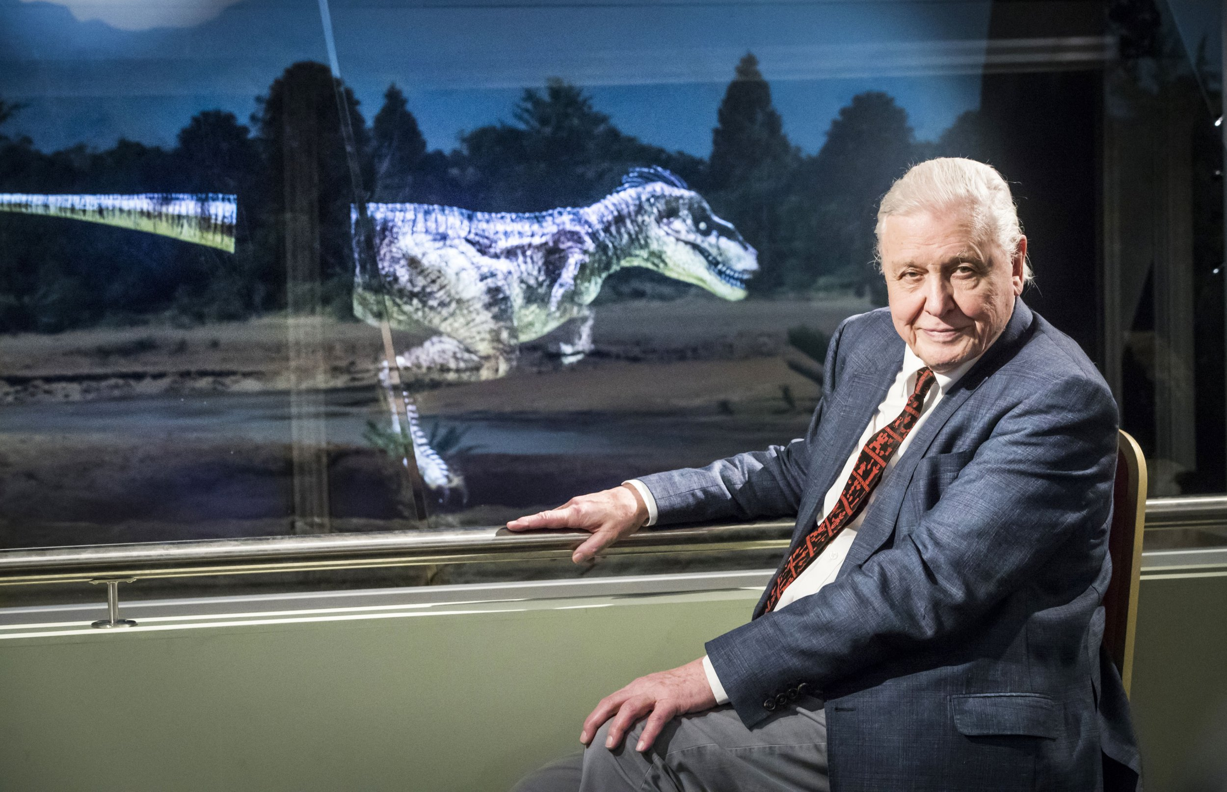 Sir David Attenborough, 91, opens Jurassic World because he's a legend