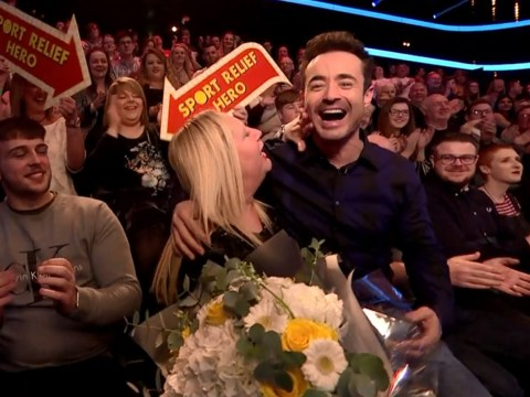 Joe McFadden has seriously awkward Sport Relief moment as fan gets his shows mixed up