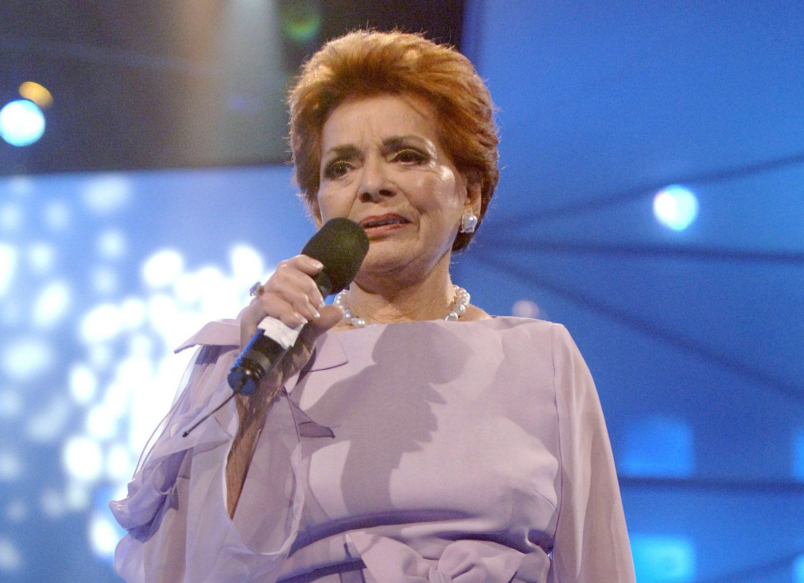 Mandatory Credit: Photo by Birger Vogelius/REX/Shutterstock (557674m) Lys Assia CONGRATULATIONS ANNIVERSARY SHOW FOR THE EUROVISION SONG CONTEST, COPENHAGEN, DENMARK - 22 OCT 2005