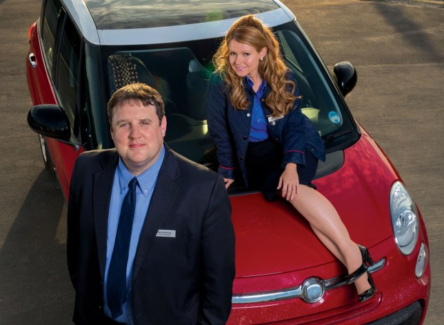 Undated BBC handout photo of Peter Kay as John and Sian Gibson as Kayleigh in the BBC comedy, Car Share. Kay has devastated fans after announcing he will not be creating a third series of the programme. PRESS ASSOCIATION Photo. Issue date: Tuesday May 2, 2017. The hugely popular BBC show about two supermarket employees who share their daily drive saw another wave of success with its recent second season. See PA story SHOWBIZ Kay. Photo credit should read: BBC/Goodnight Vienna Productions/PA Wire For use in UK, Ireland or Benelux countries only NOTE TO EDITORS: Not for use more than 21 days after issue. You may use this picture without charge only for the purpose of publicising or reporting on current BBC programming, personnel or other BBC output or activity within 21 days of issue. Any use after that time MUST be cleared through BBC Picture Publicity. Please credit the image to the BBC and any named photographer or independent programme maker, as described in the caption.