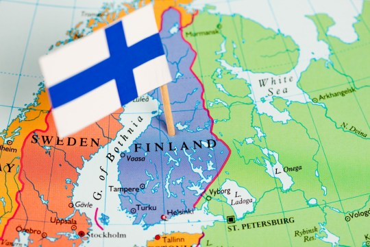 """Map and Flag of Finland. Source: """"World reference atlas"""" [url=/search/lightbox/5890567][IMG]http://farm4.static.flickr.com/3574/3366761342_e502f57f15.jpg?v=0[/IMG][/url]"""