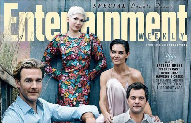 * MUST USE IMAGE IN FULL - NO CROPPING / PHOTOSHOPPING * Entertainment Weekly - April 2018: Dawson's Creek Cast Reunites After 20 Years