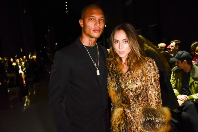 Mandatory Credit: Photo by LAURENT BENHAMOU/SIPA/REX/Shutterstock (9334296j) Jeremy Meeks, Chloe Green Ralph and Russo show, Front Row, Spring Summer 2018, Haute Couture Fashion Week, Paris, France - 22 Jan 2018