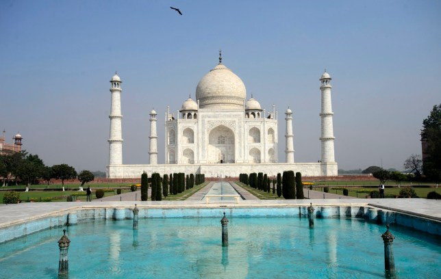 The Taj Mahal is pictured during a tour on the state visit by Prime Minister Justin Trudeau and his family, not pictured, in Agra, India on Sunday, Feb. 18, 2018. THE CANADIAN PRESS/Sean Kilpatrick