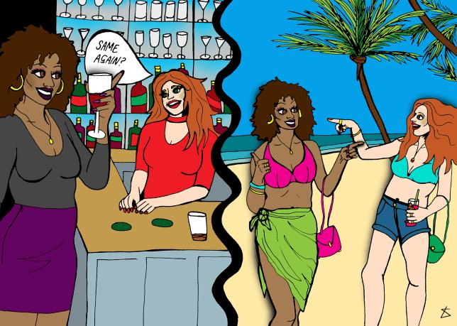 Illustration request: Craziest small world moment (Bibi)