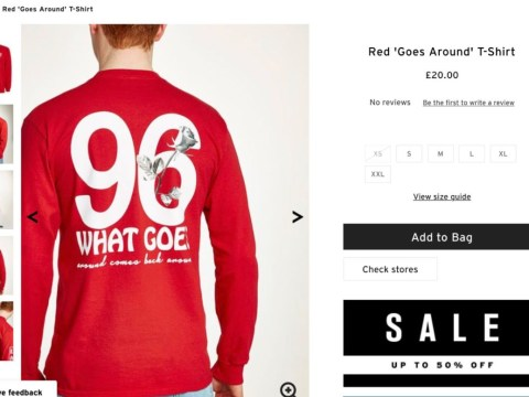 Topman under fire after releasing 'insulting Hillsborough Disaster t-shirt'