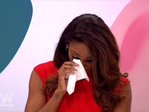 Alexandra Burke breaks down in tears on Loose Women