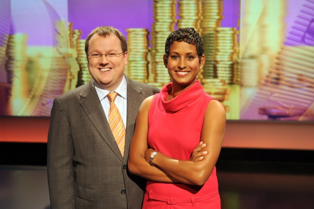 Declan Curry and bbc presenter naga munchetty