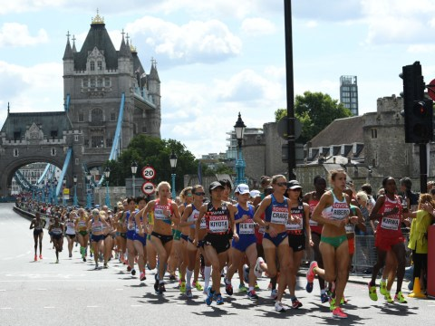 What time is the London Marathon on TV and which channel is it on?