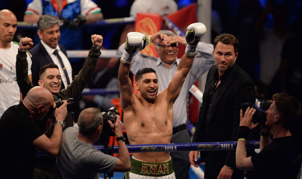 Amir Khan reveals in-ring staredown with Phil Lo Greco handiwork of new coach