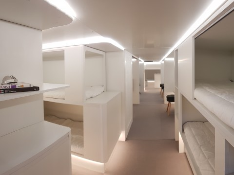 Airbus wants to turn a plane's cargo hold into a sleeping area for passengers