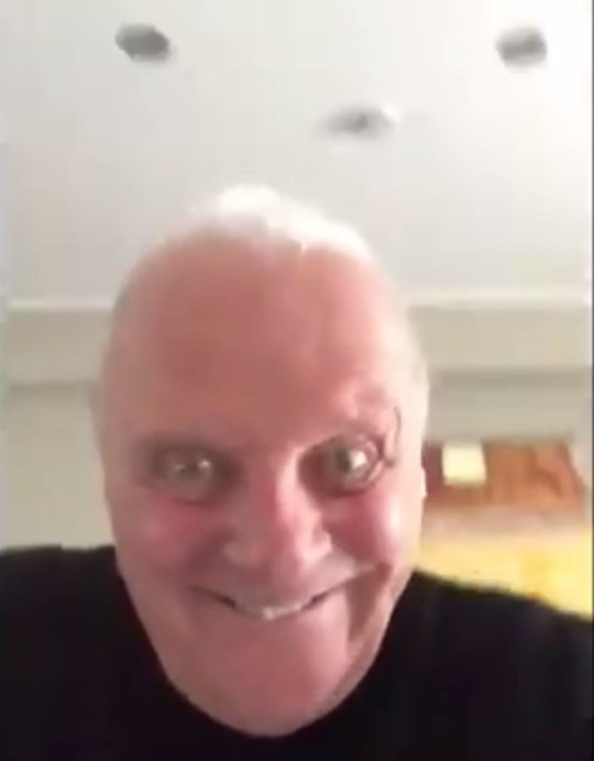 Anthony Hopkins shared a bizarre clip on social media (Picture: Twitter)