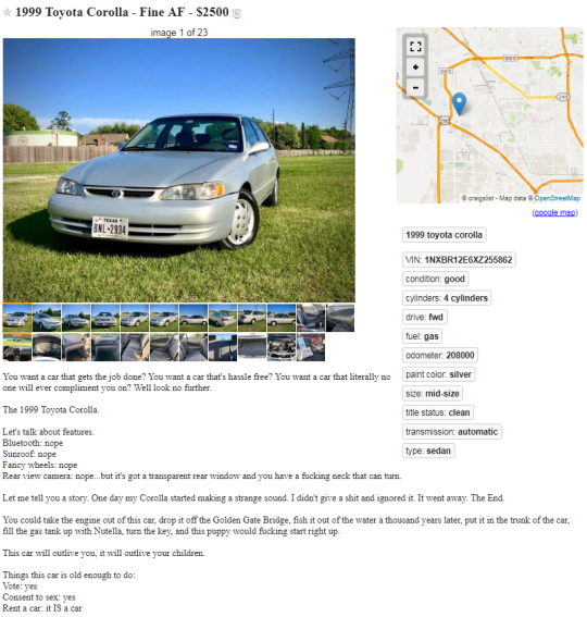 Over 289,670 people want to buy this crusty old car that's