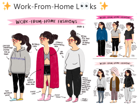 Illustrator's 'work-from-home looks' are too relatable
