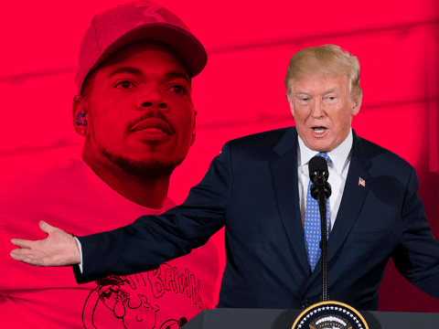 Chance The Rapper apologises for backing Kanye West's tweets and 'poorly timed comments' about Trump