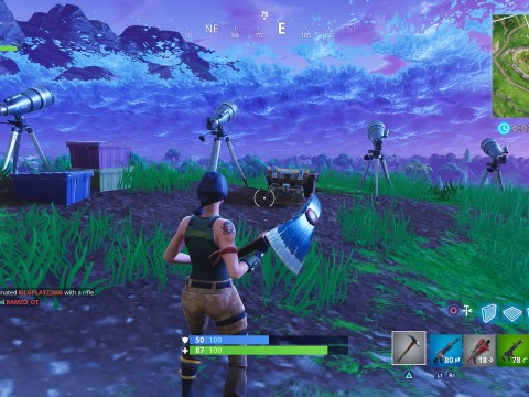 What will replace Tilted Towers if it's destroyed by a meteor in Fortnite?