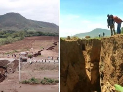 Massive crack dubbed the 'Grand Kenyan' opens up in Great Rift Valley