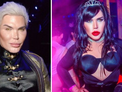 'Human Ken Doll' Rodrigo Alves parades in upside-down bra as father threatens to cut him from will