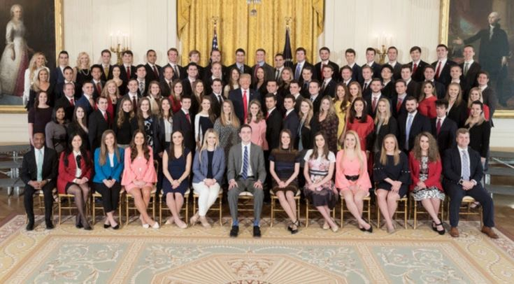 Donald Trump condemned over photo showing lack of diversity among new White House interns