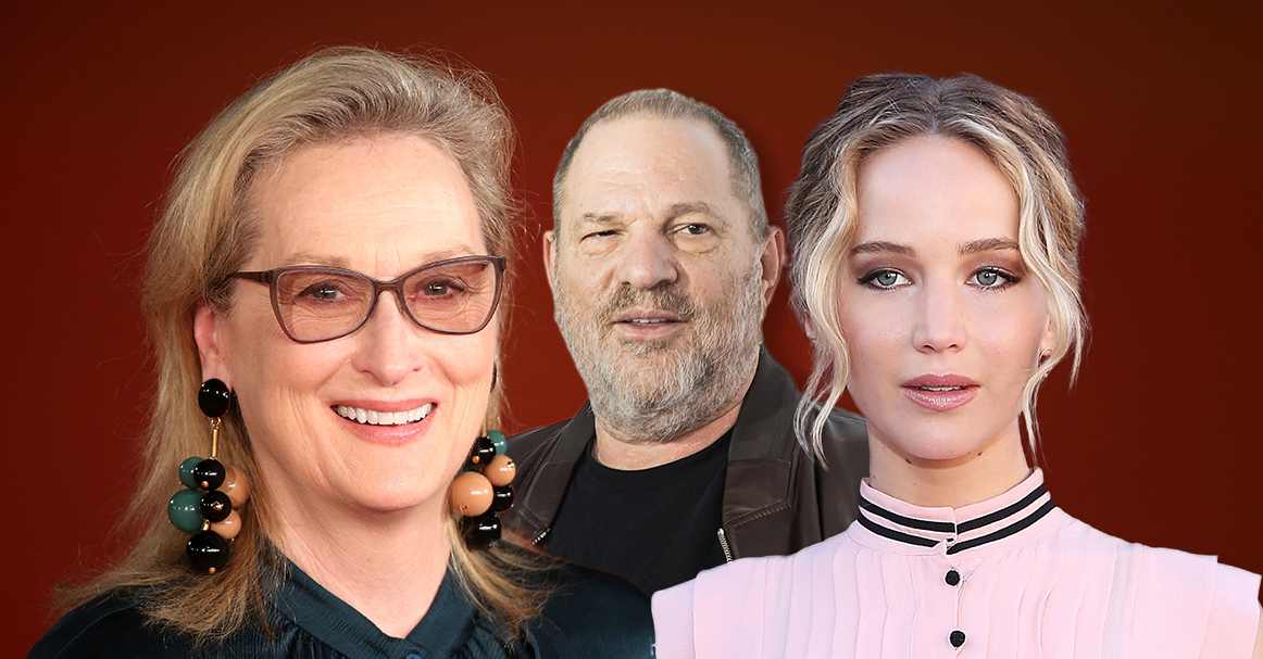 Meryl Streep and Jennifer Lawrence both owed over £70,000 by Weinstein's company