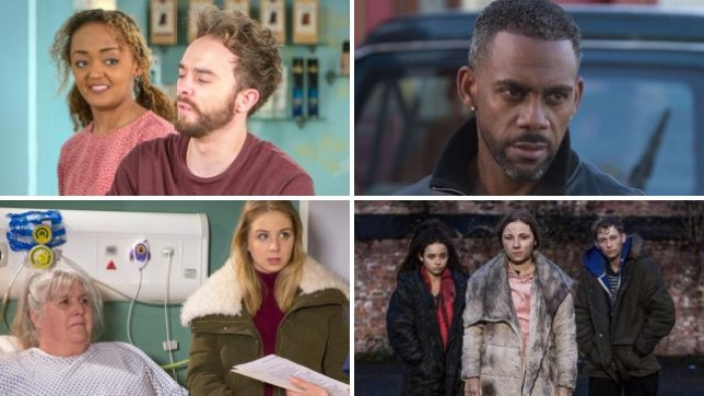 Spoiler pictures for David and Emma in Coronation Street, Vincent in EastEnders, Lisa and Belle in Emmerdale and Peri and Harley in Hollyoaks