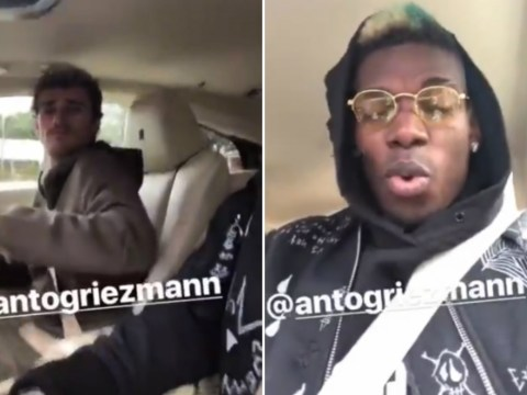 Paul Pogba hangs out with Antoine Griezmann after inspiring Manchester United comeback
