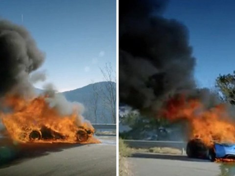 Top Gear viewers left in shock as car goes up in flames with presenters still inside