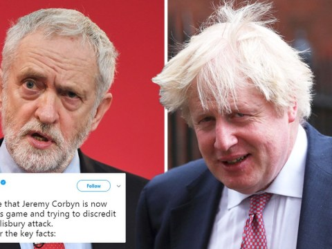 Boris Johnson accuses Corbyn of 'playing Russia's game' over spy poisoning