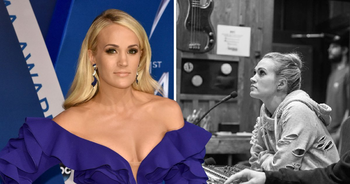 Carrie Underwood shares first picture of her face since having surgery after horrific fall