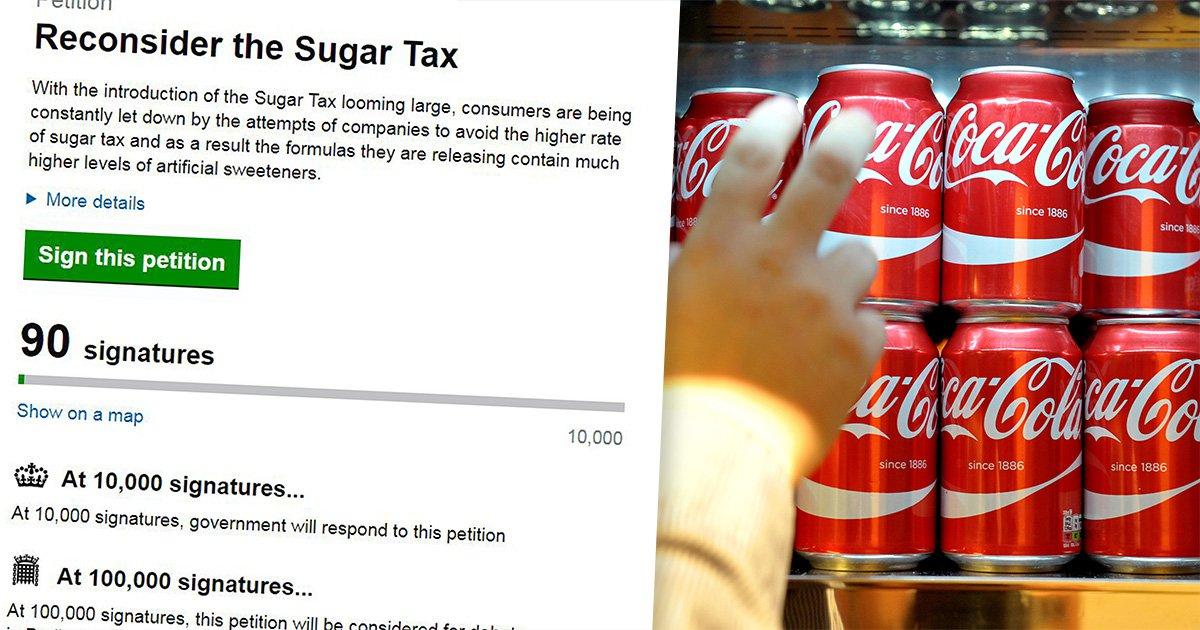 People already want Theresa May to stop the sugar tax