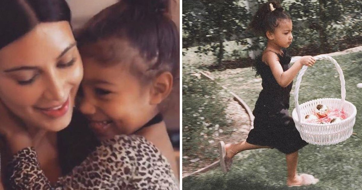 Kim Kardashian shares a snap of daughter North on the sassiest Easter egg hunt ever