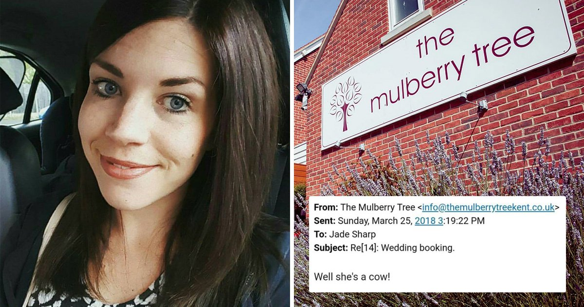 Bride receives email calling her a 'cow' after it was sent to wrong person