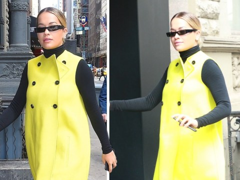 Rita Ora is actual human embodiment of sunshine as she wears bright yellow coat in New York City