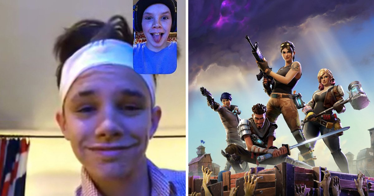 Cruz Beckham, 13, boasts he's teaching brother Romeo how to play Fortnite