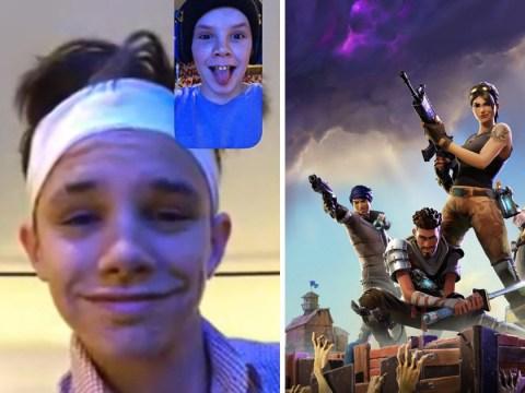Cruz Beckham, 13, boasts he's teaching brother Romeo how to play Fortnite