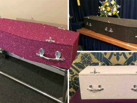 You can now get glitter covered coffins so you can be gloriously extra even in death