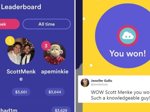 The same guy keeps winning chunks of cash on a new app and people are suspicious