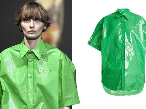 Balenciaga is at it again with this £645 plastic bag shirt