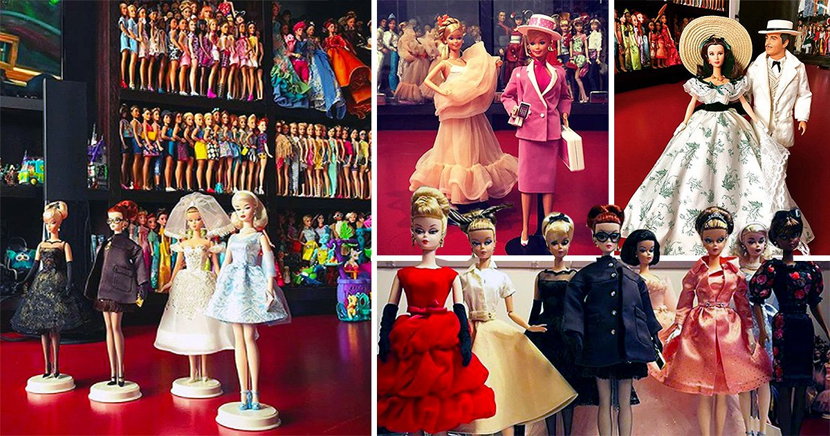 Man claims he has spent more than £350,000 on his Barbie doll collection