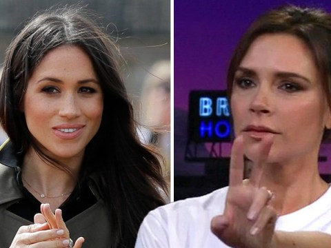 Victoria Beckham is going to the royal wedding but denies designing Meghan Markle's dress