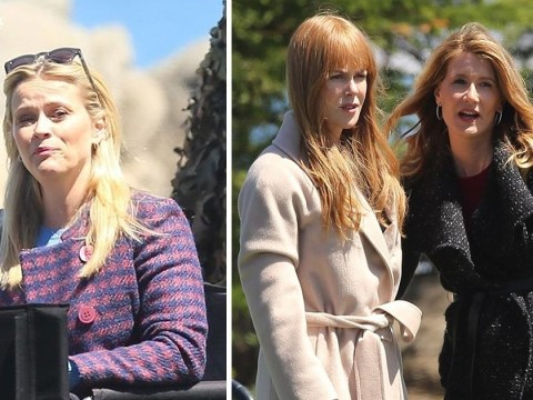 Nicole Kidman, Reese Witherspoon and Laura Dern run lines as Big Little Lies filming continues