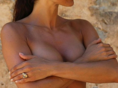 Melanie Sykes poses topless to make serious point about cancer check ups