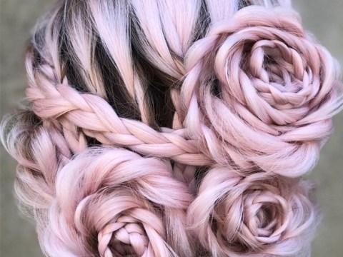 Hair stylist creates stunning rose braids